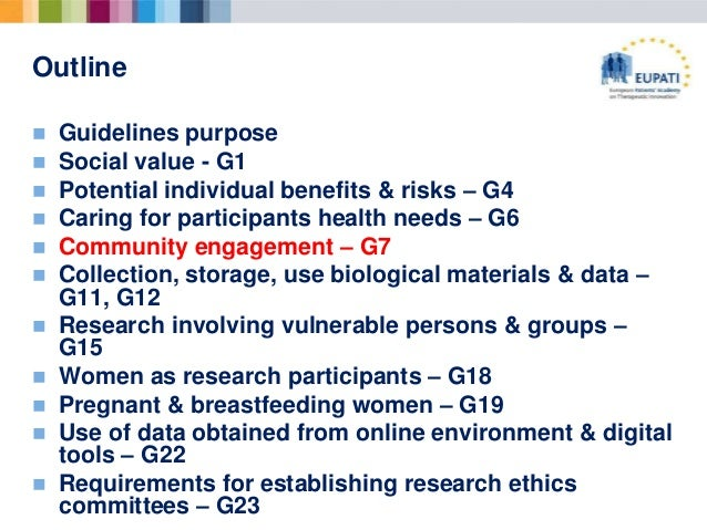 cioms ethical guidelines for biomedical research what is in for pati rh slideshare net CIOMS Logo cioms iii/v guidelines