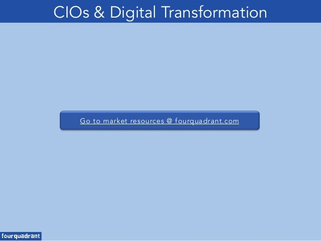 Go to market resources @ fourquadrant.com CIOs & Digital Transformation