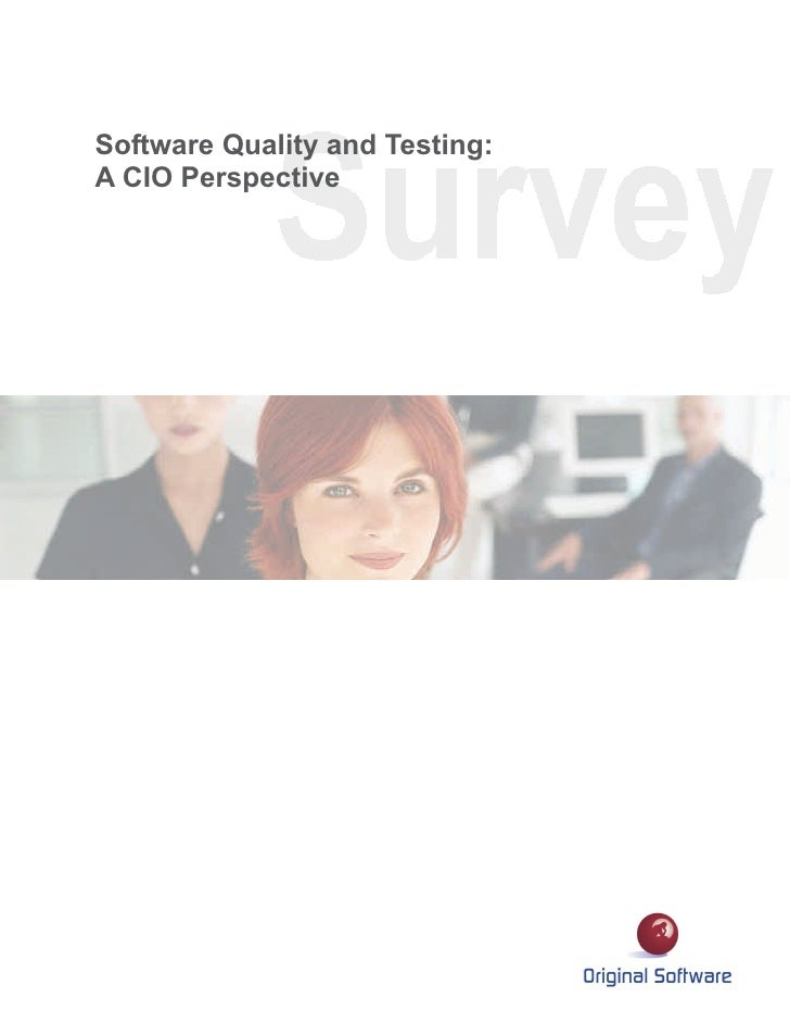 Software Quality and Testing:A CIO Perspective
