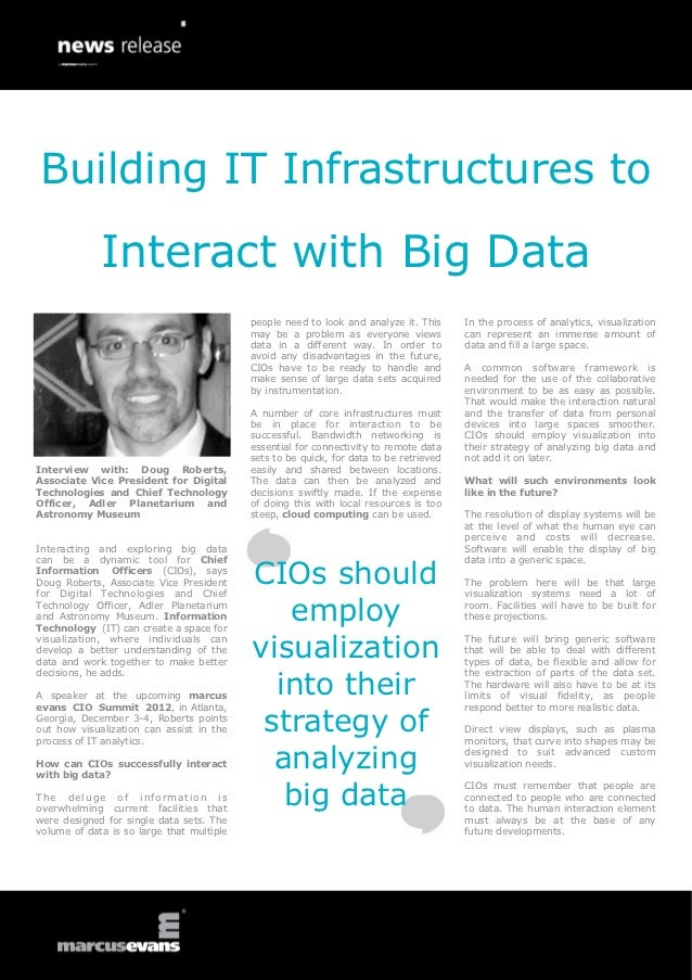 Building IT Infrastructures to             Interact with Big Data                                           people need to...