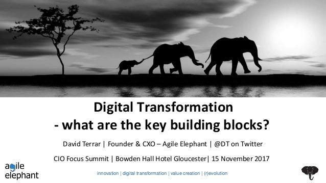 Digital Transformation - what are the key building blocks? CIO Focus Summit | Bowden Hall Hotel Gloucester| 15 November 20...