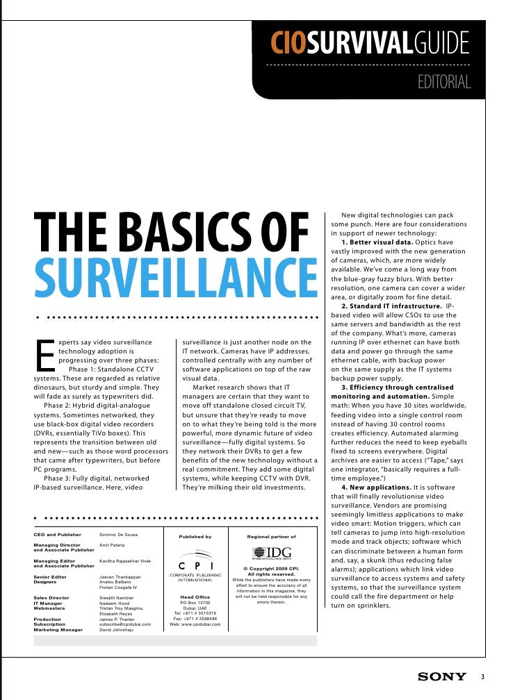 CIO Survival Guide for Sony IP Video Surveillance