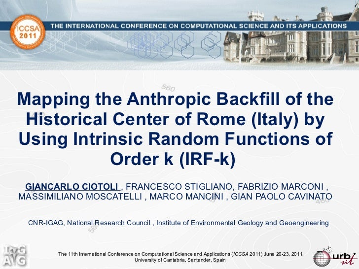 Mapping the Anthropic Backfill of the Historical Center of Rome (Italy) by Using Intrinsic Random Functions of  Order k (I...