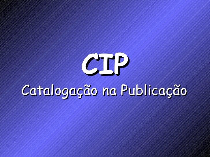 CIP Catalogação na Publicação