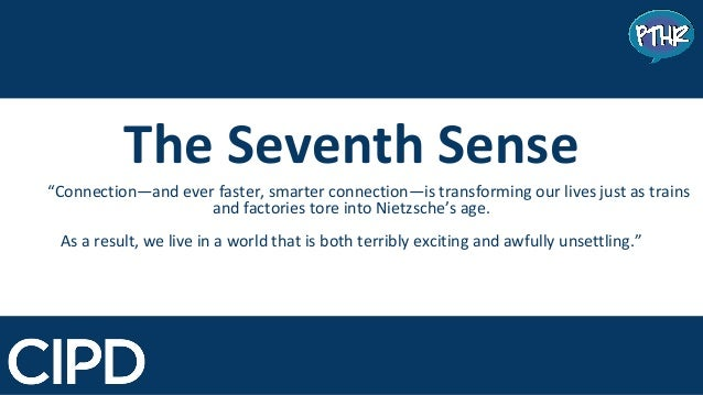 www.pthr.co.uk @PerryTimms +PerryTimms The Seventh Sense