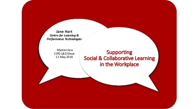Supporting Social	&	Collaborative	Learning	 in	the	Workplace Jane	Hart Centre	for	Learning	&	 Performance	Technologies Mas...