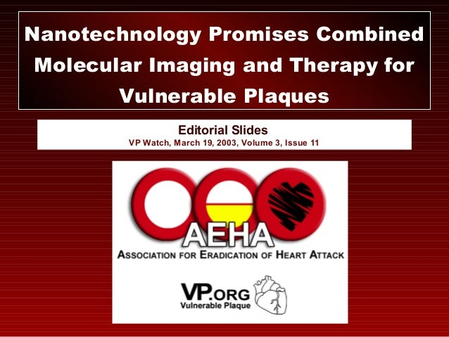 Editorial Slides VP Watch, March 19, 2003, Volume 3, Issue 11 Nanotechnology Promises Combined Molecular Imaging and Thera...