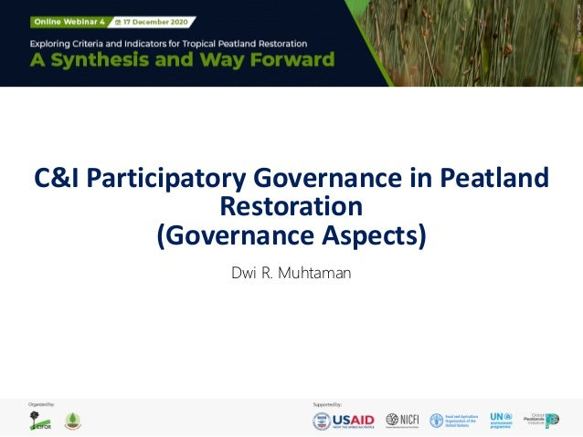C&I Participatory Governance in Peatland Restoration (Governance Aspects) Dwi R. Muhtaman