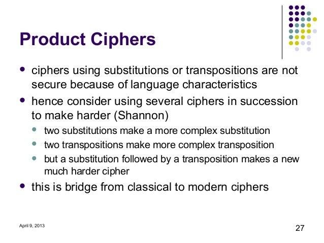 Cipher techniques