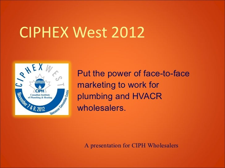 CIPHEX West exhibiting ideas for wholesalers