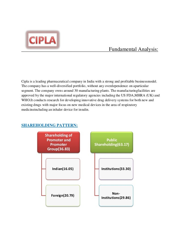 cipla pharmaceutical company business model The pharmaceutical industry in india ranks  the industry as a whole has been following this business model  top 9 publicly listed pharmaceutical companies in.