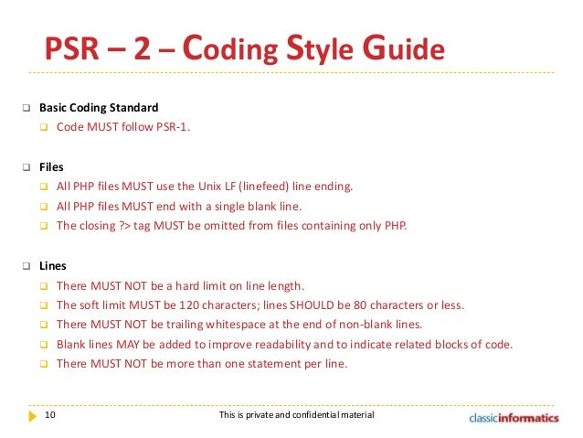 PHP CODING STANDARDS
