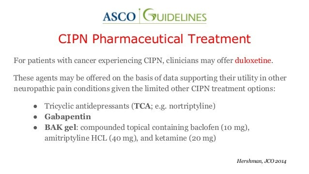 Chemotherapy Induced Peripheral Neuropathy (CIPN): A Song of Ice and …