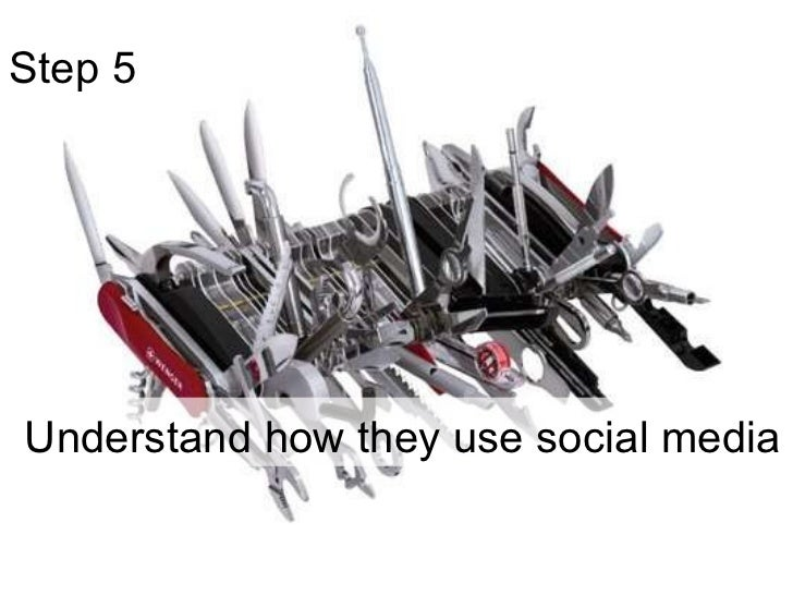 Step 5  Understand how they use social media