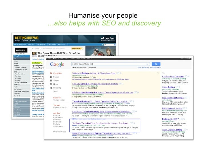 Humanise your people  …also helps with SEO and discovery