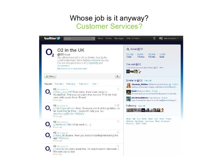 Whose job is it anyway?  Customer Services?
