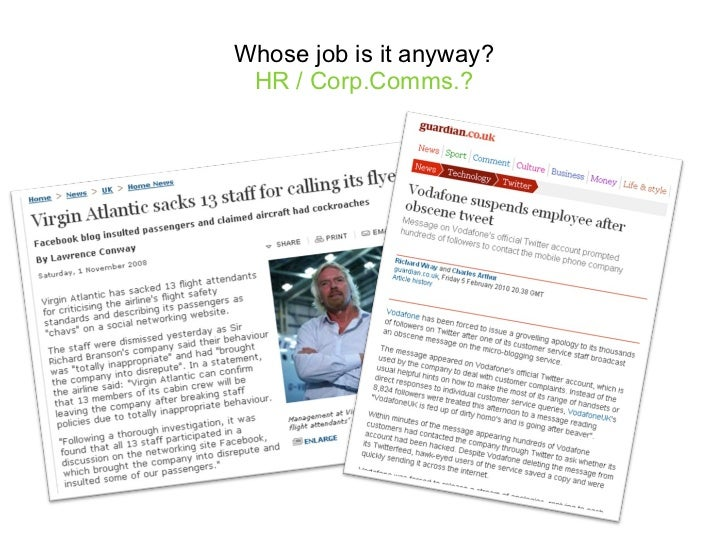 Whose job is it anyway? HR / Corp.Comms.?