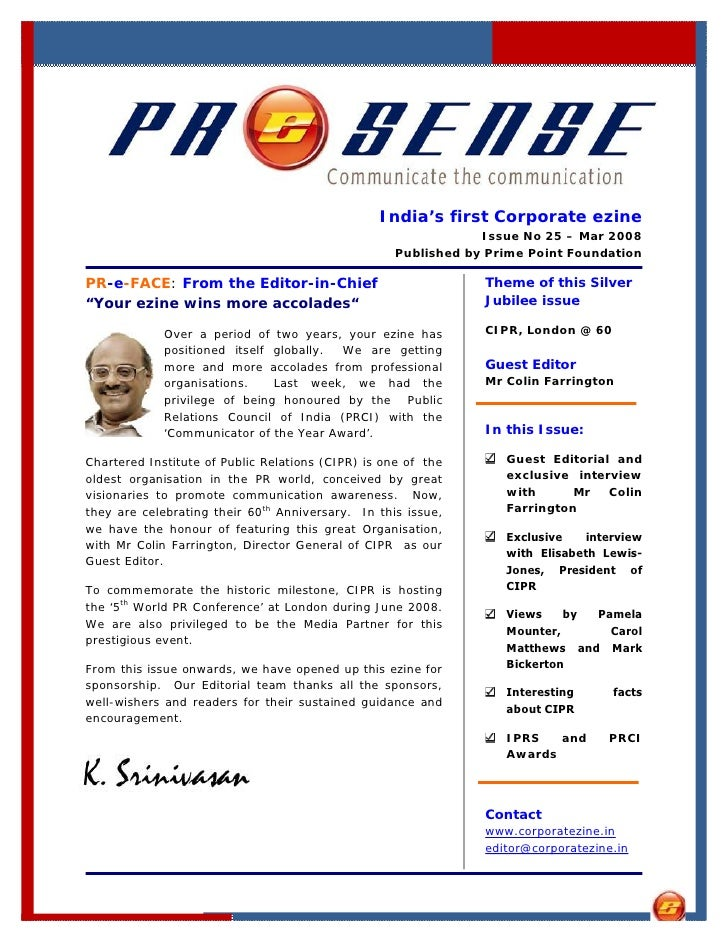 India's first Corporate ezine                                                                Issue No 25 – Mar 2008       ...