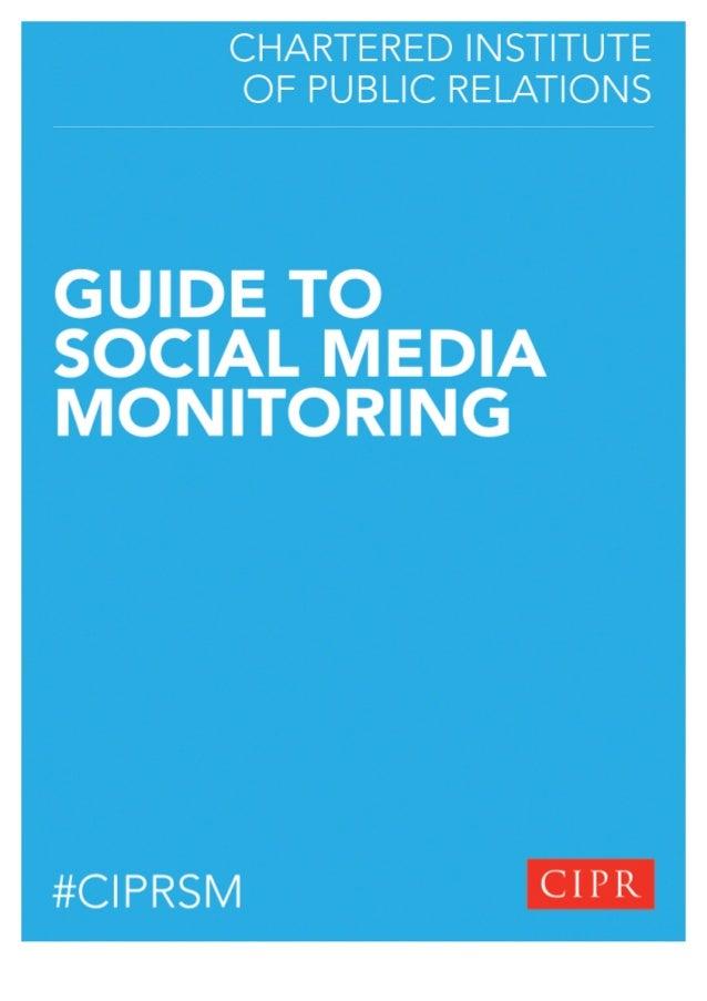 CIPR Guide to Social Media Monitoring Slide 1