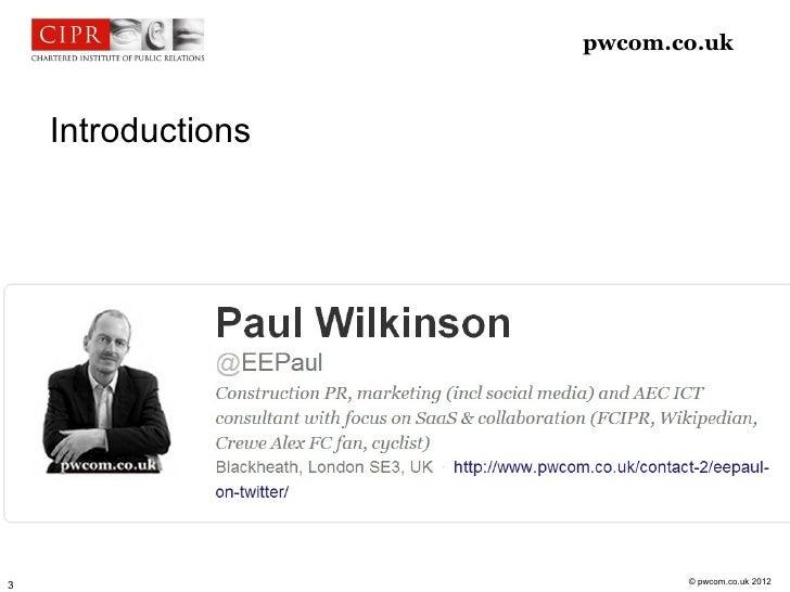 pwcom.co.uk    Introductions                           © pwcom.co.uk 20123