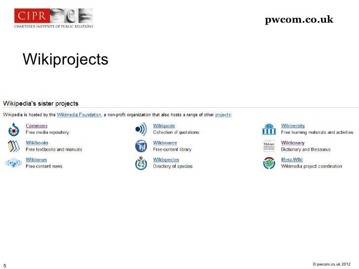 pwcom.co.uk    Wikiprojects                          © pwcom.co.uk 20125