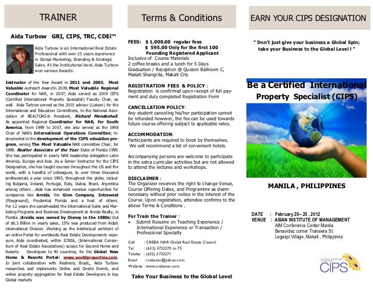TRAINER                                                Terms & Conditions                                EARN YOUR CIPS DE...
