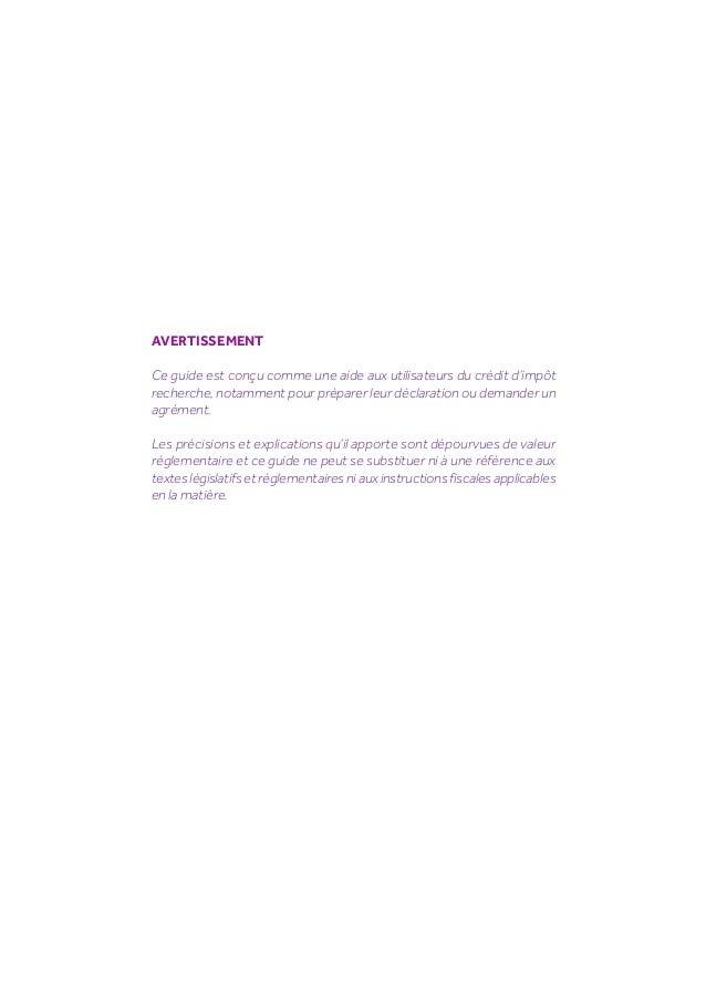 Guide du Crédit Impôt recherche 2014 Slide 2