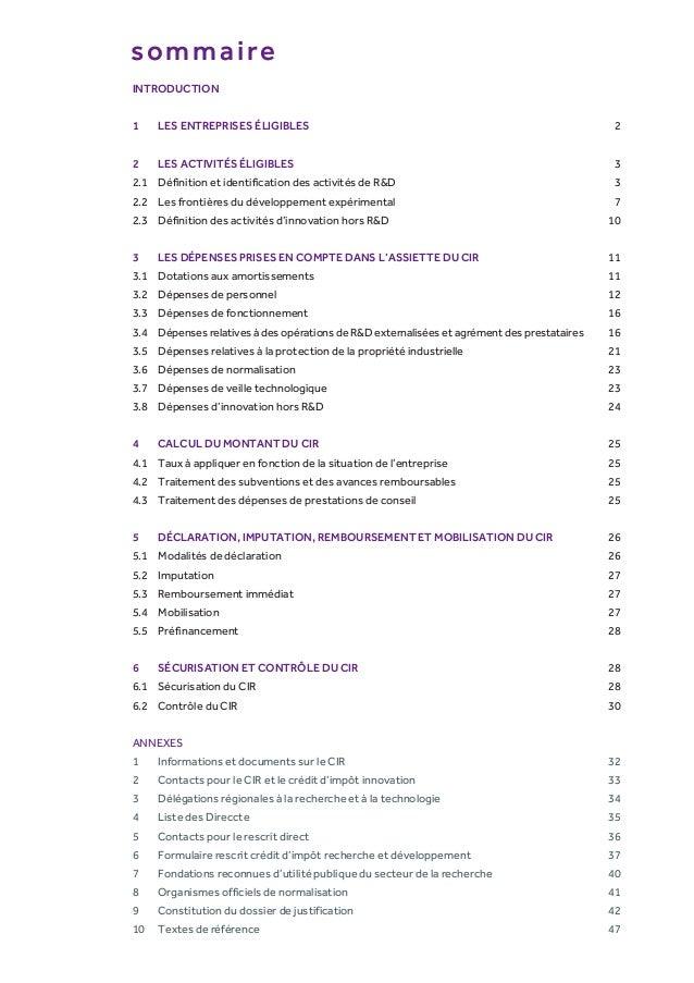 Guide du Crédit Impôt recherche 2014 Slide 3