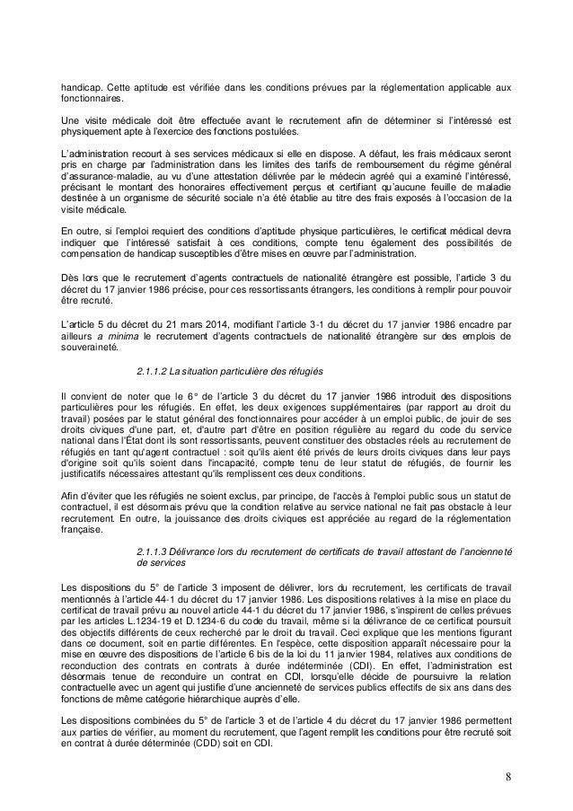 Guide Contractuels Ministere De La Fonction Publique Oct 2016