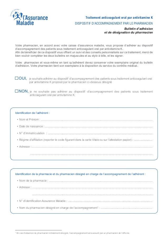 Votre pharmacien, en accord avec votre caisse d'assurance maladie, vous propose d'adhérer au dispositif d'accompagnement d...