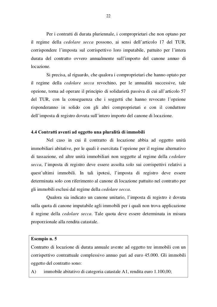 22. 22 Per I Contratti Di Durata ...