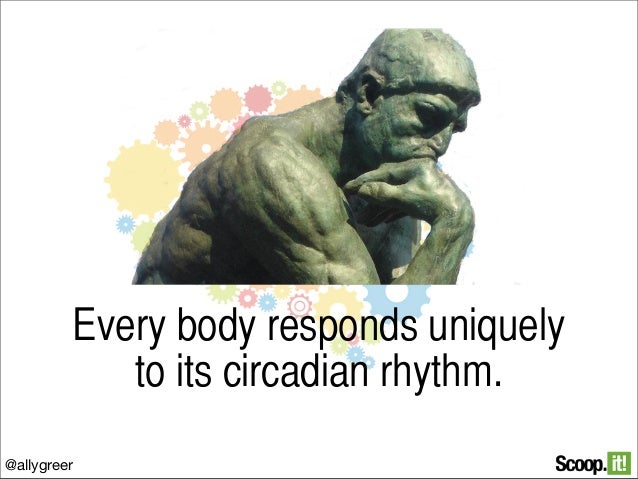 Every body responds uniquely to its circadian rhythm. @allygreer