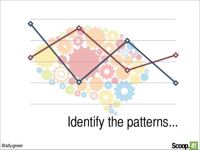 Identify the patterns... @allygreer