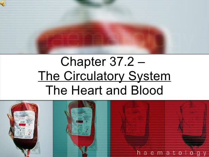 Chapter 37.2 –  The Circulatory System The Heart and Blood