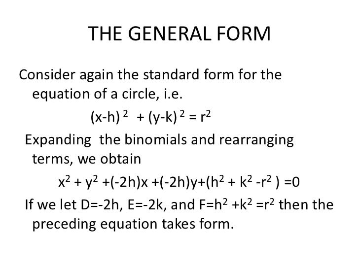 Circle Standard Form To General Form Narsuogradysmoving