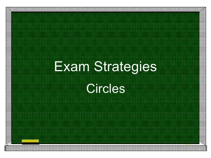 Exam Strategies Circles