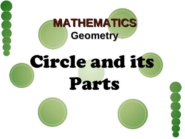 MATHEMATICSMATHEMATICS GeometryGeometry Circle and its Parts