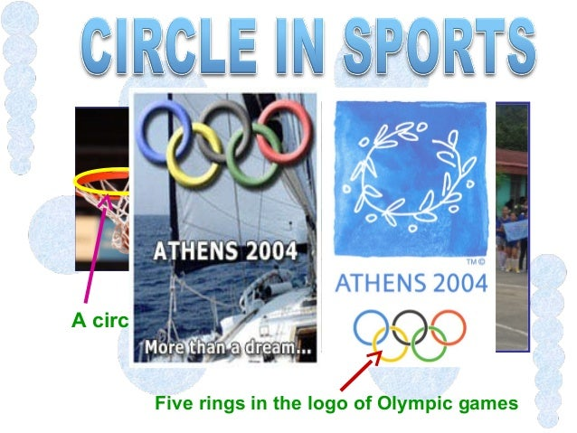 Five rings in the logo of Olympic games A circle