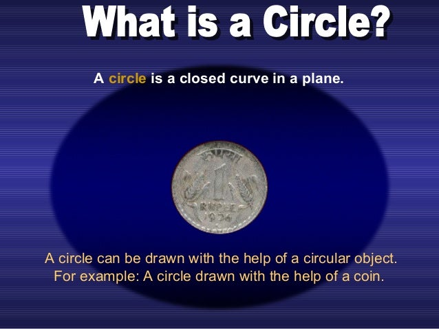 A circle can be drawn with the help of a circular object. For example: A circle drawn with the help of a coin. A circle is...