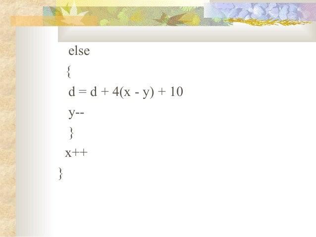 Bresenham Line Drawing Algorithm Explanation : Circle drawing algo