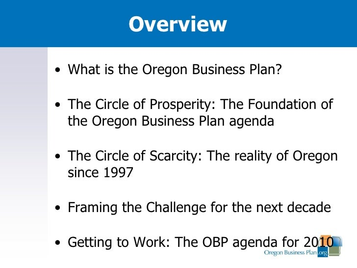 oregon exchange business plan