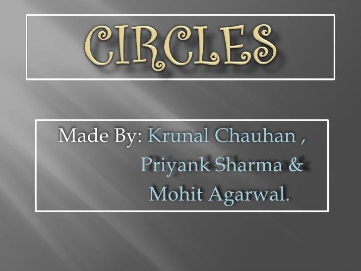 Made By:  Krunal Chauhan , Priyank Sharma &  Mohit Agarwal.