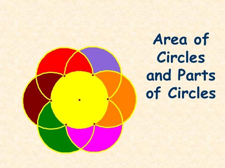 Area of Circlesand Partsof Circles