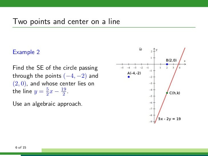 how to write an equation in center radius form