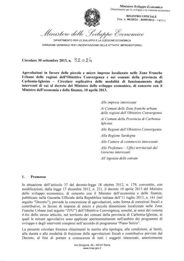 ·  . Ministero Sviluppo Economico  DipartImento per lo sviluppo e la coesione economica REGISTRO UFFICIALE   ProL n. 00320...