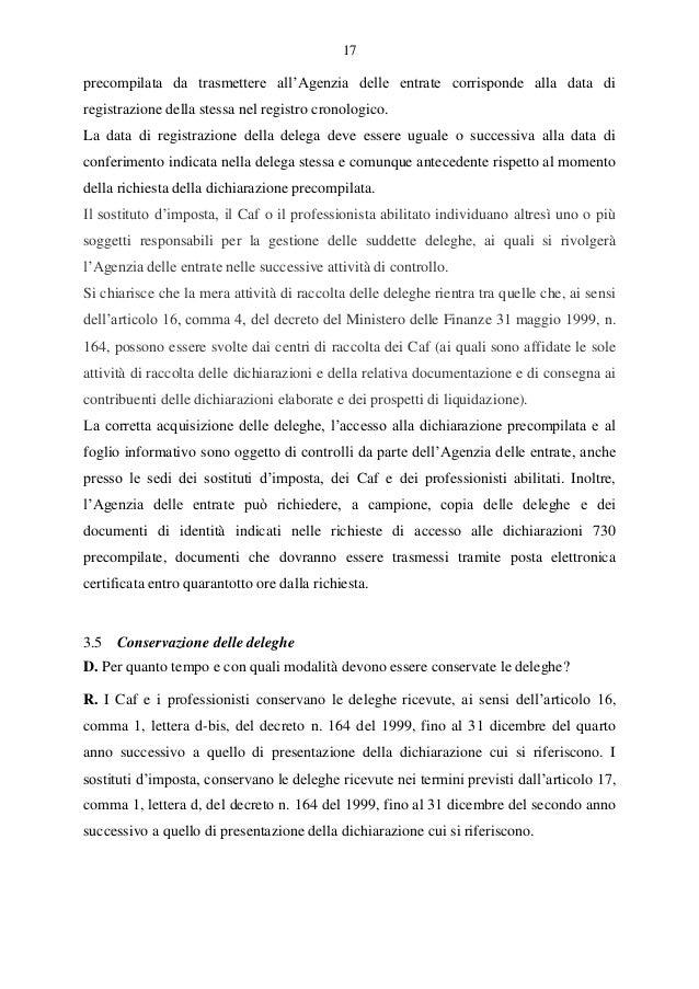 730 precompilato le risposte ai questiti for Agenzia delle entrate 730 precompilato accesso