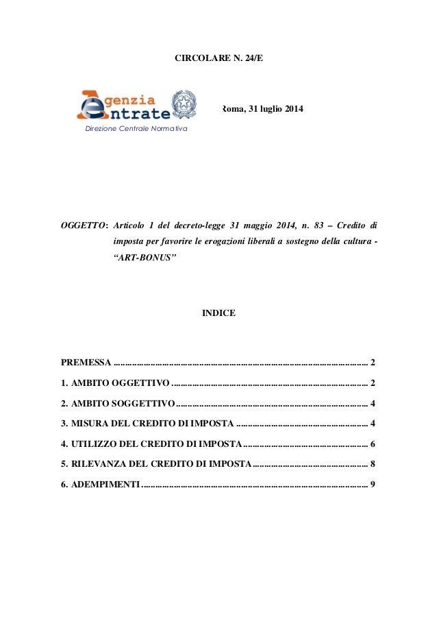 Artbonus primi chiarimenti circolare agenzia delle for Bonus arredi agenzia entrate