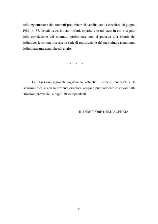 Circolare 4e febbraio 2015 agenzia delle entrate regime for Registrazione contratto preliminare di compravendita agenzia delle entrate