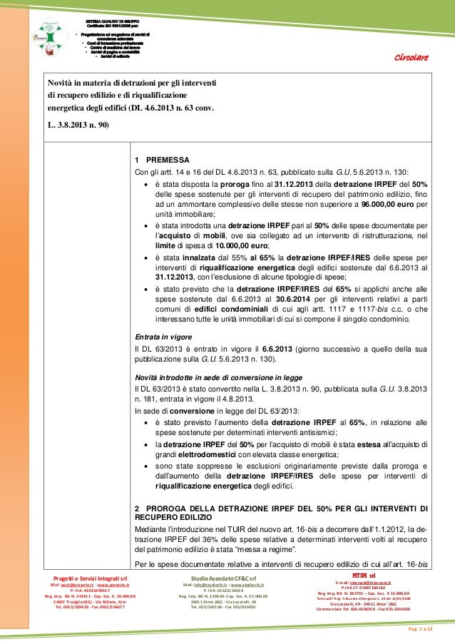 Circolare Progetti e Servizi Integrati srl Mail post@proserin.it - www.proserin.it P. IVA: 03015890167 Reg. Imp. BG N. 341...