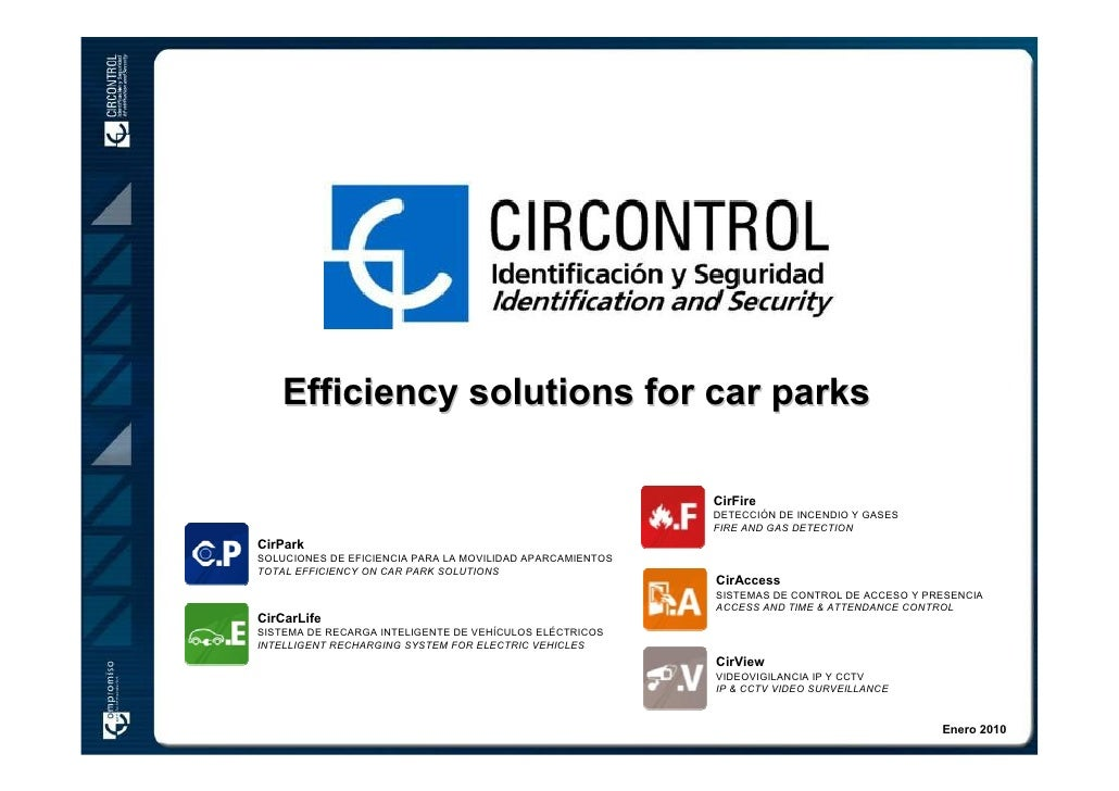 Efficiency solutions for car parks                                                           CirFire                      ...